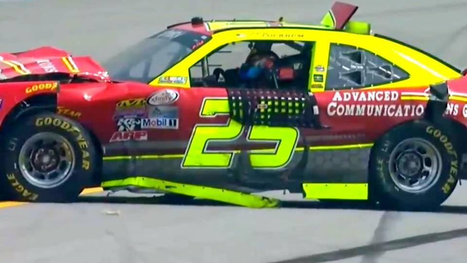 Xfinity Series driver on Talladega crash: \'F—, that hurt\' | NASCAR ...