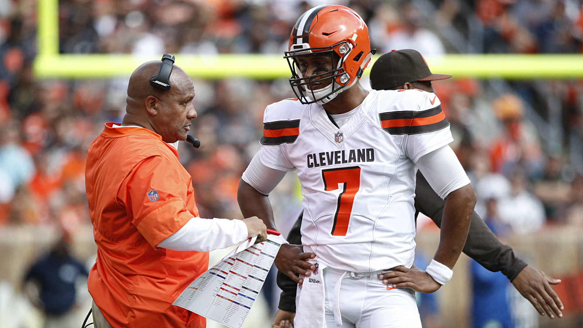 Browns' Myles Garrett starts National Football League career with sack