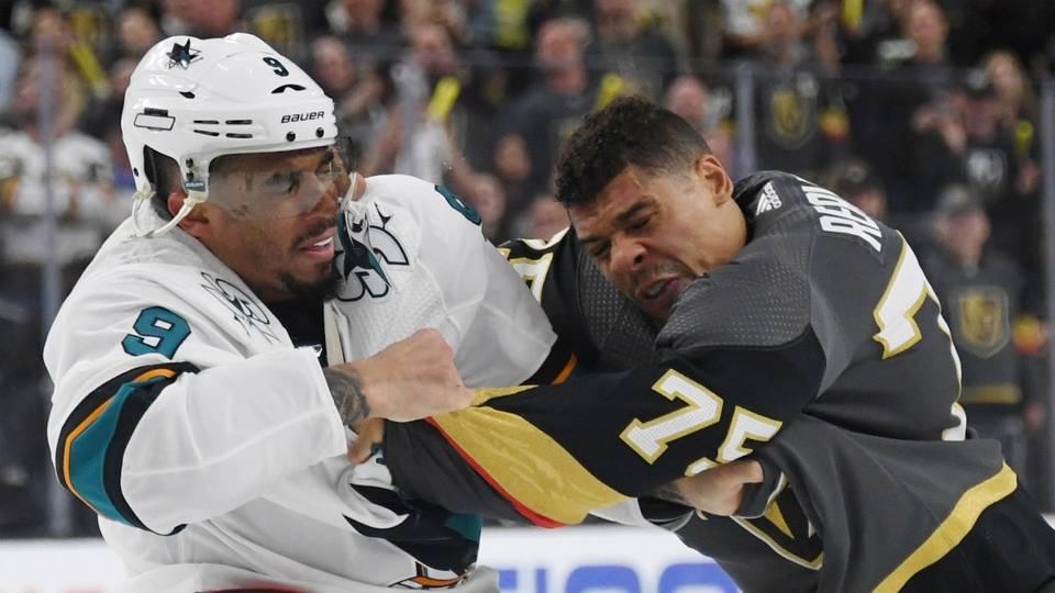NHL playoffs 2019: Evander Kane leaves Sharks' Game 4 loss after vicious jab to Golden Knights' Colin Miller