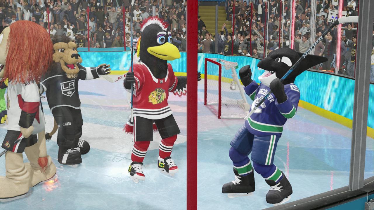 NHL 18 mascots