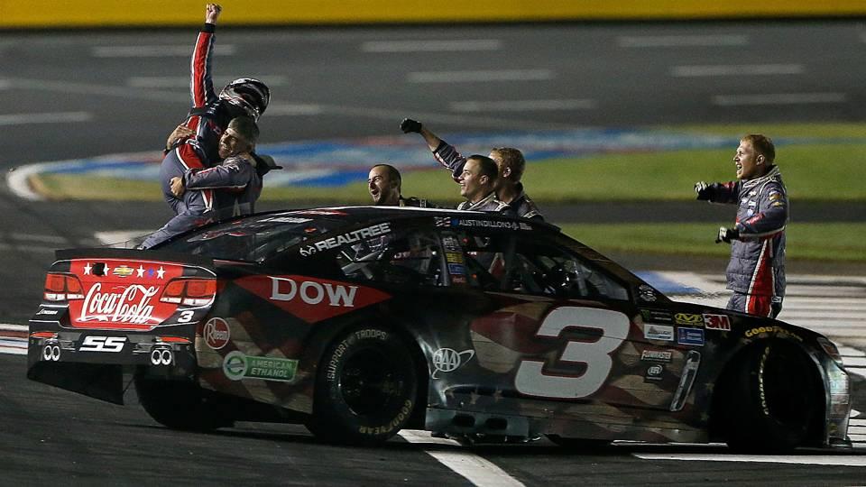 Coca-Cola 600: Austin Dillon puts No. 3 back in Victory Lane on fuel ...