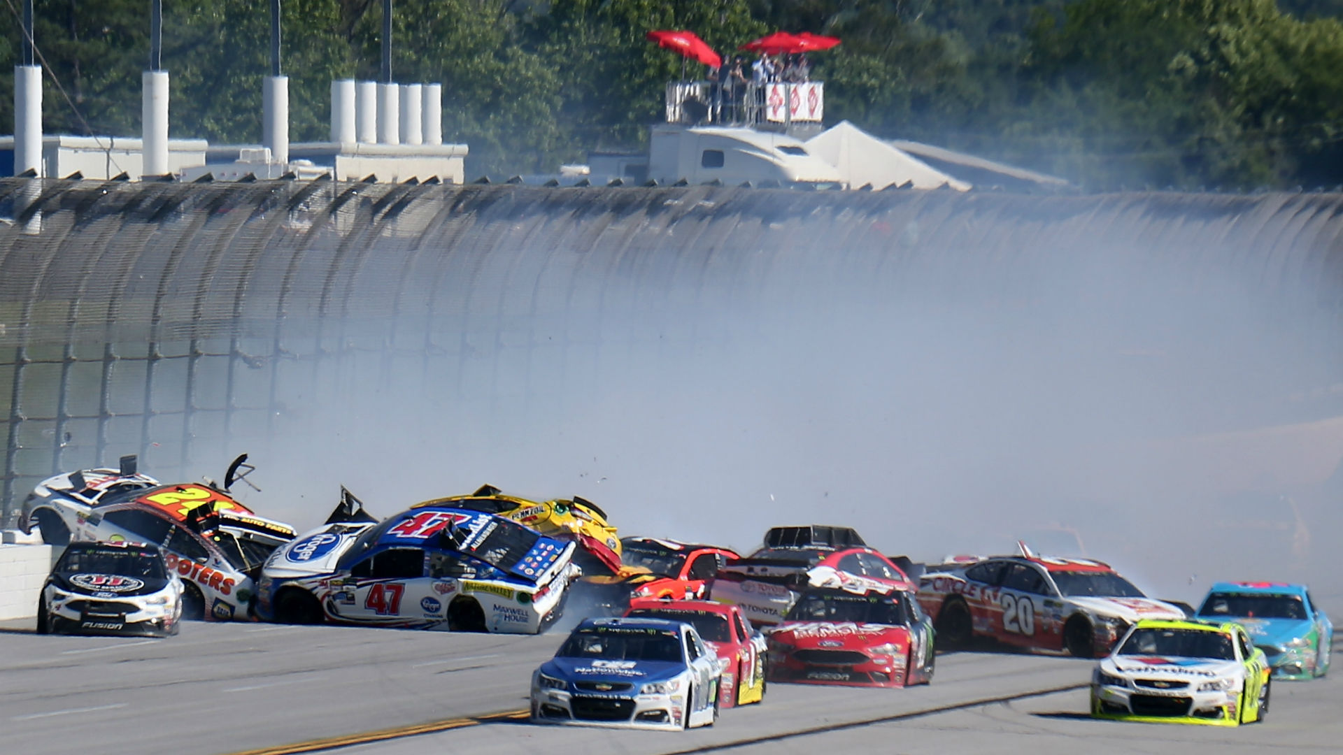 AJ Allmendinger's auto flips over in Talladega crash