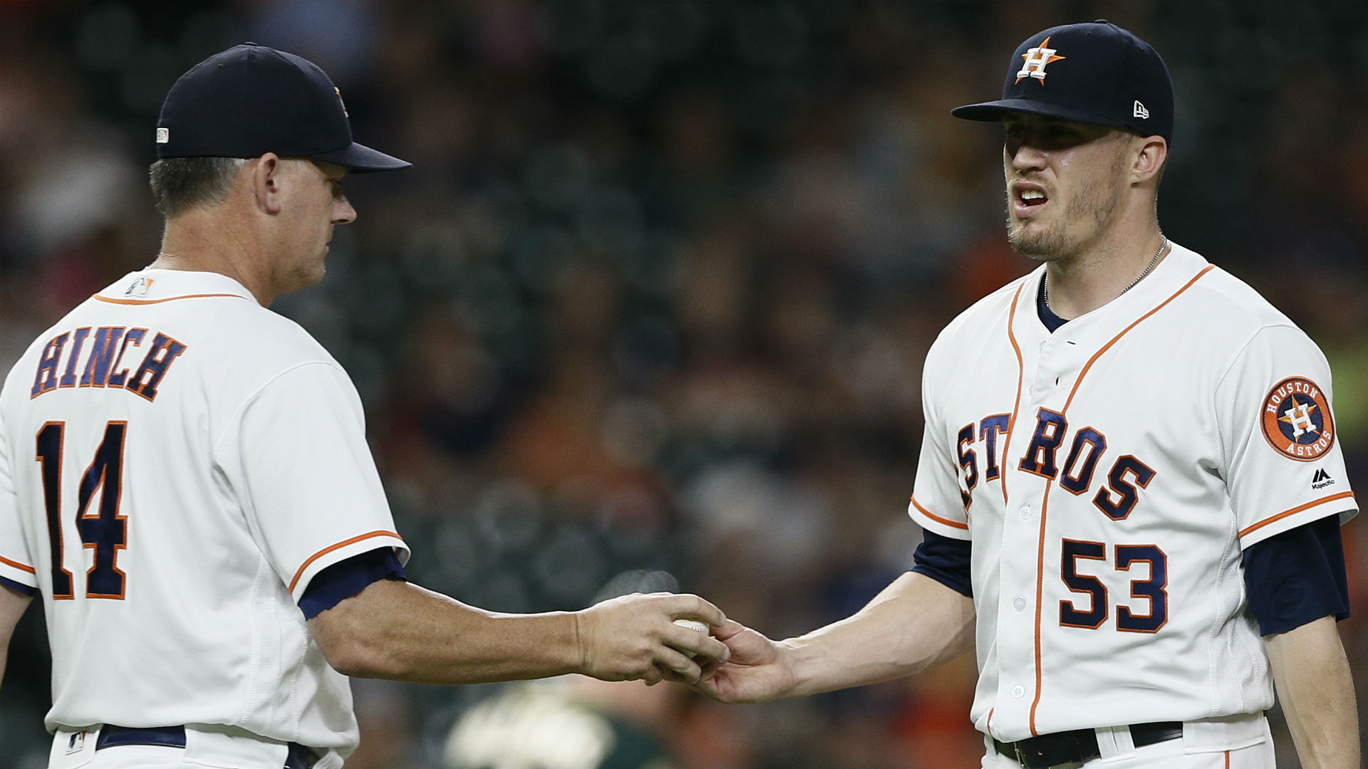 Astros demote Ken Giles to Triple-A a day after apparent tiff with manager A.J. Hinch