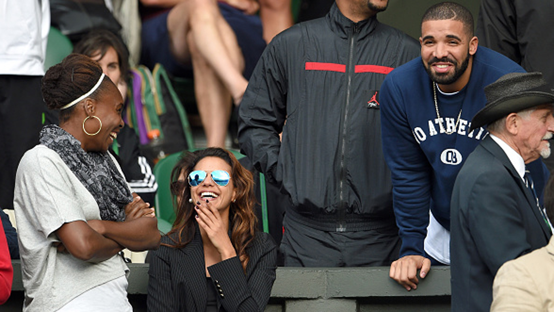 Of course drake is like family with serena williams tennis