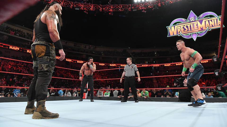 It's Cena vs. Braun Strowman vs. Elias for the right to enter the Elimination Chamber Match last!