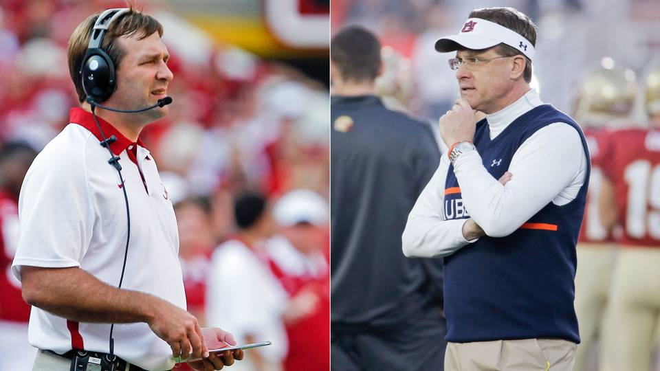 Gus Malzahn and Kirby Smart-013114-AP-FTR.jpg