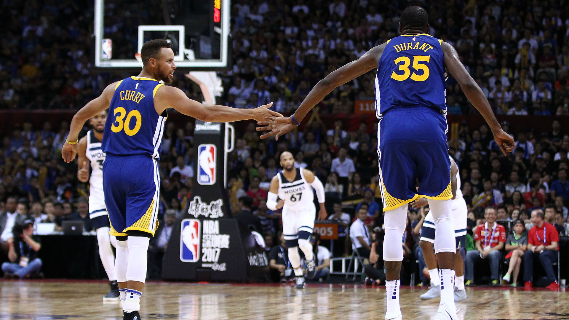 Warriors guard Stephen Curry and forward Kevin Durant