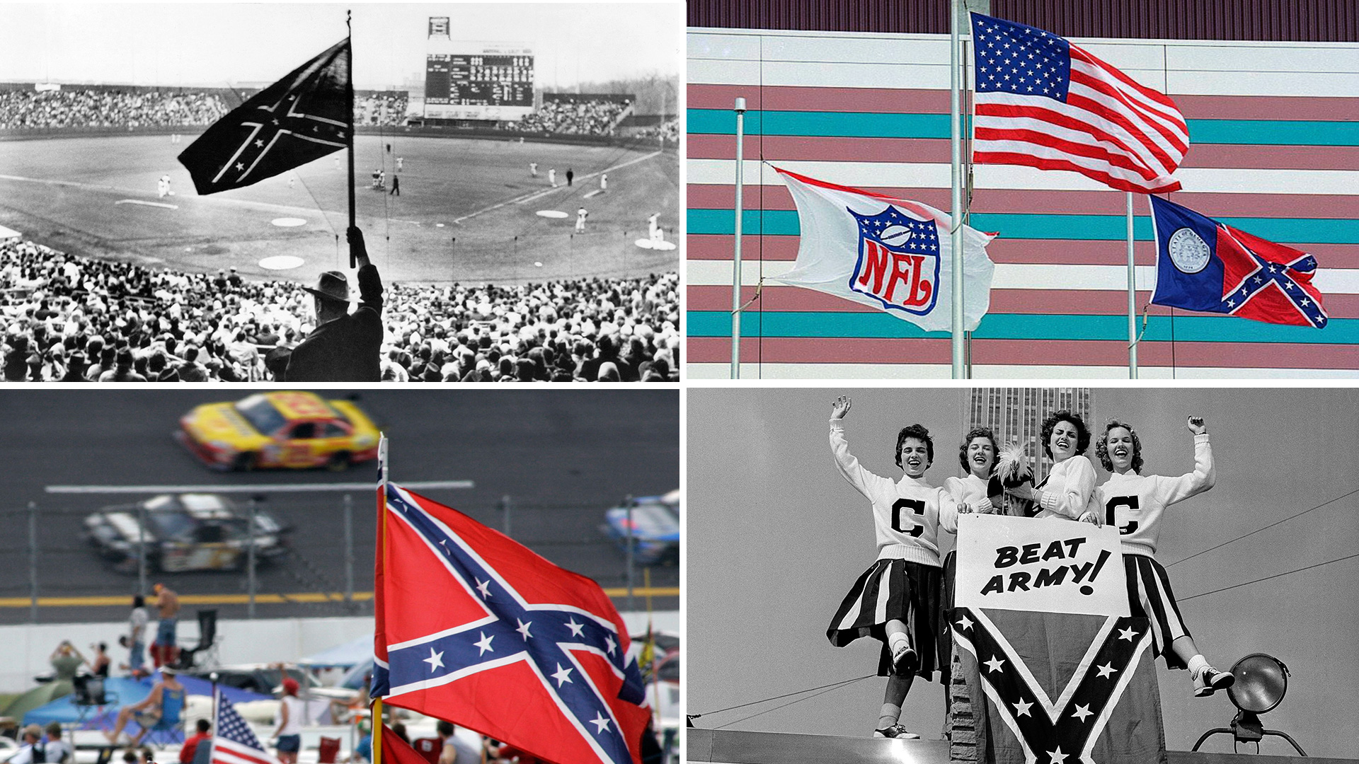 controversial history of the confederate flag in sports sporting news