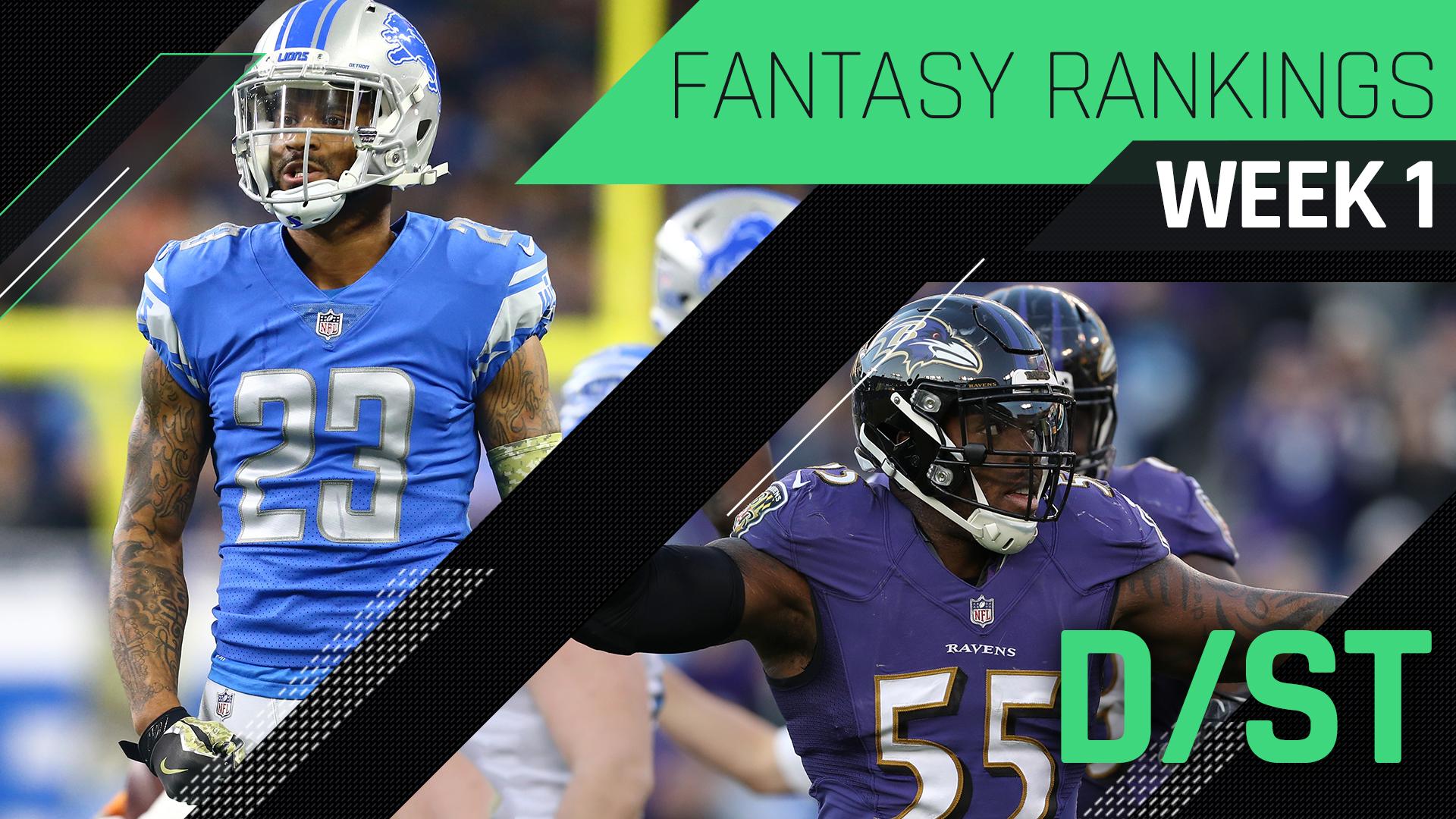 Week 1 Fantasy Football Rankings: Defense