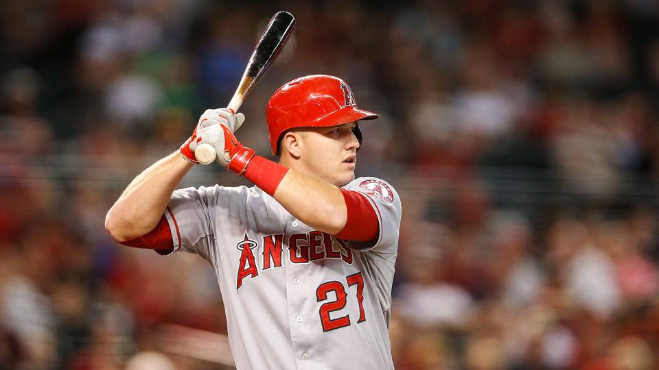 Angels celebrate Mike Trout's engagement by plating 21 vs ...