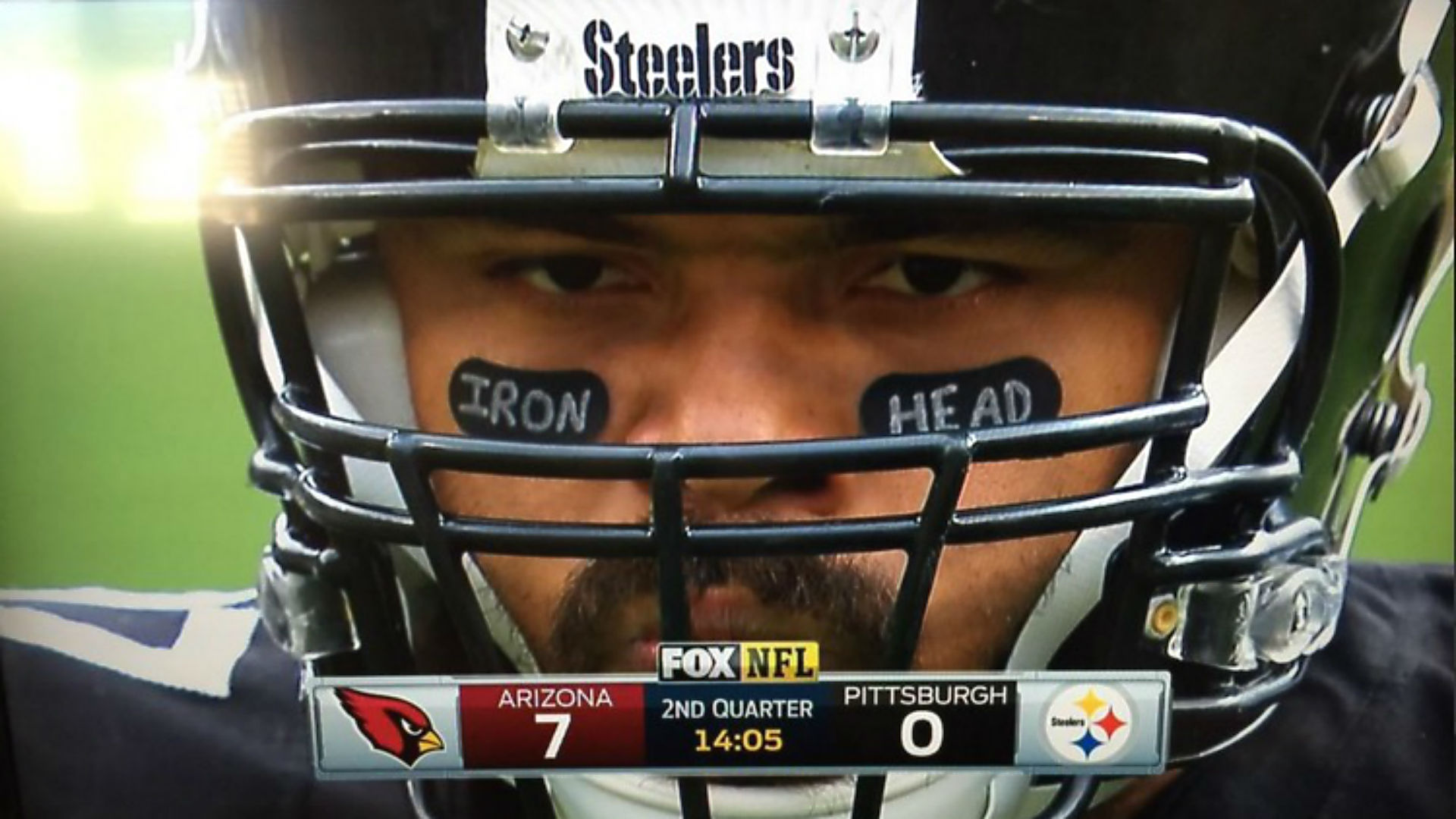 Yes Cam Heyward is wearing Iron Head eye black again