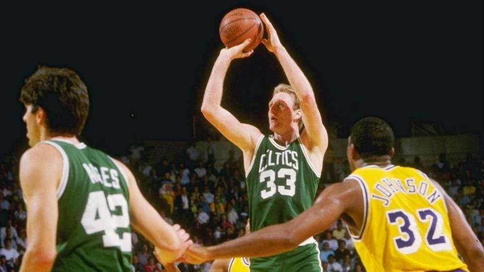 NBA All-Star Rewind: Michael Jordan watches Larry Bird's 3-point shooting in awe | NBA ...
