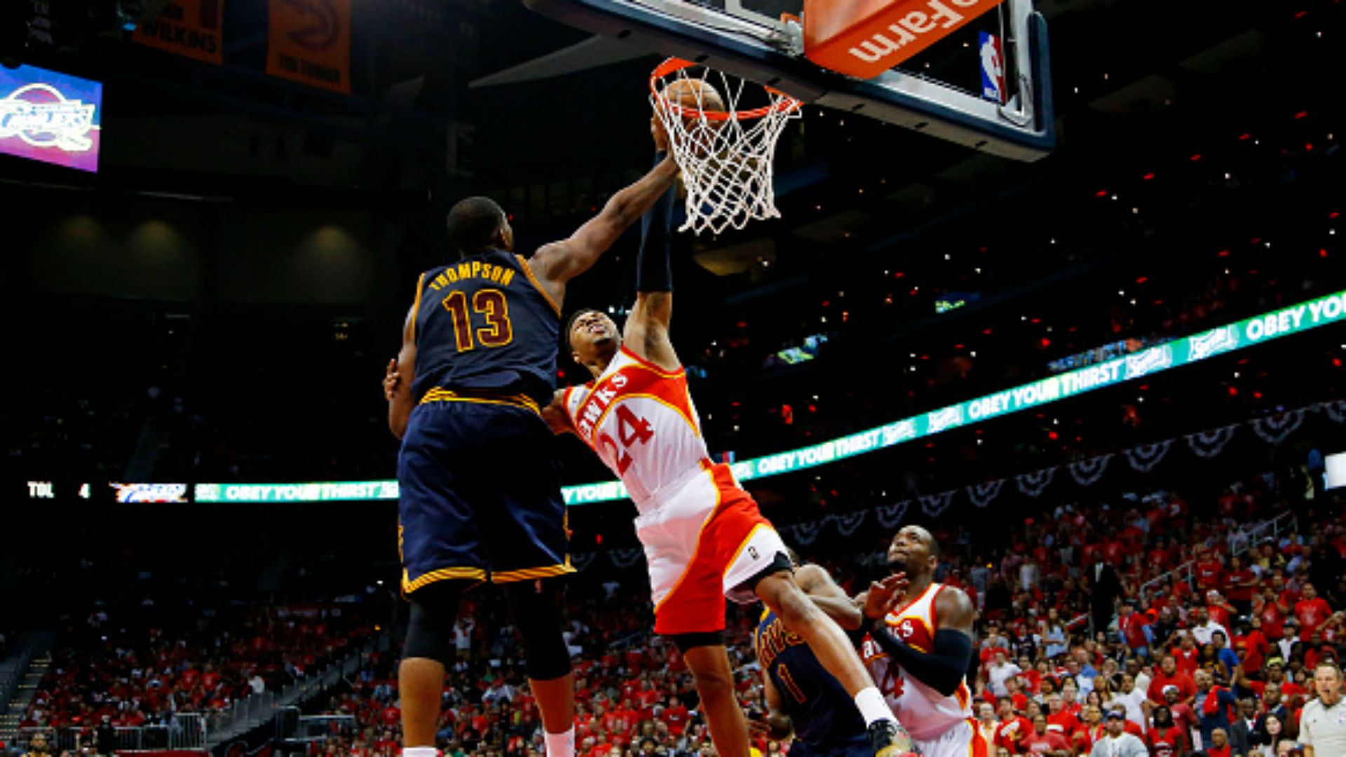 Tristan Thompson's block on Kent Bazemore personifies Cavs' win over Hawks