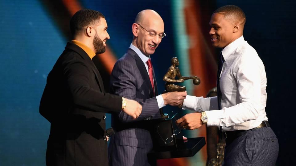 NBA MVP Russell Westbrook Okc Thunder Mvp Award Ftr