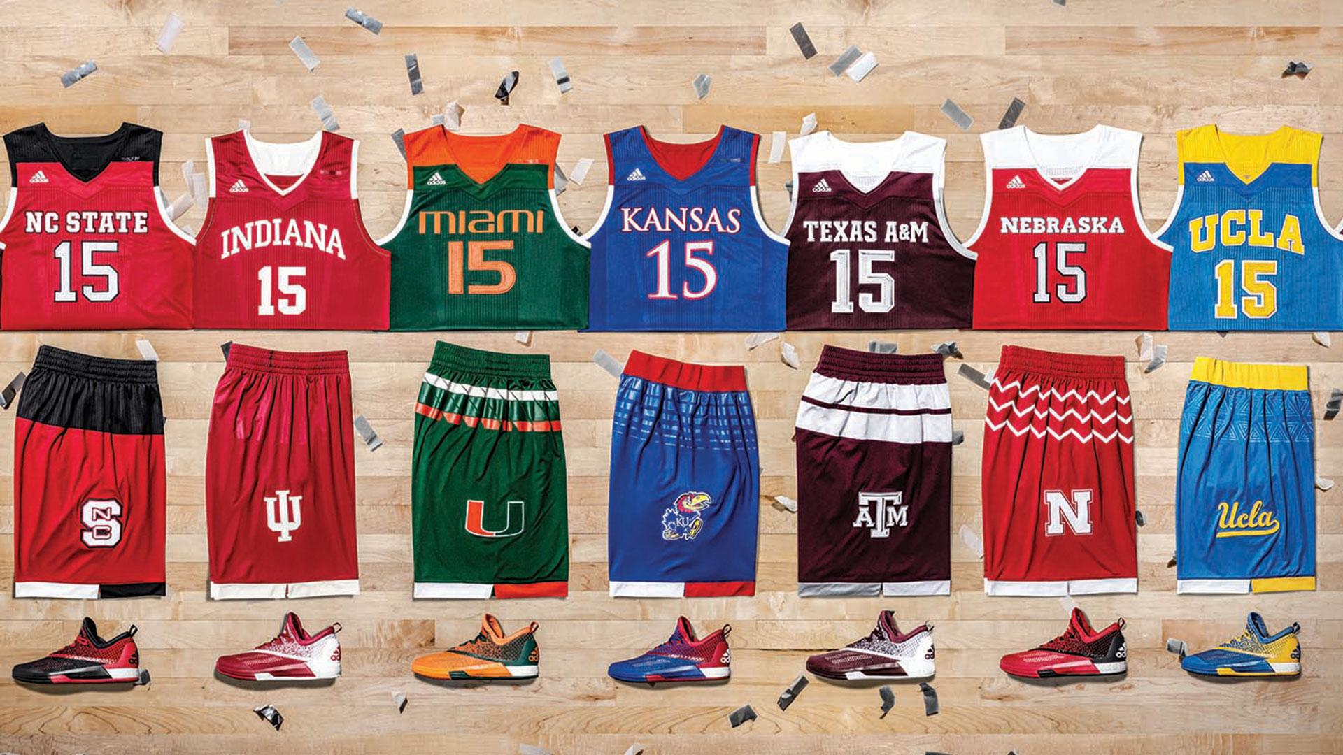 Ncaa basketball uniforms