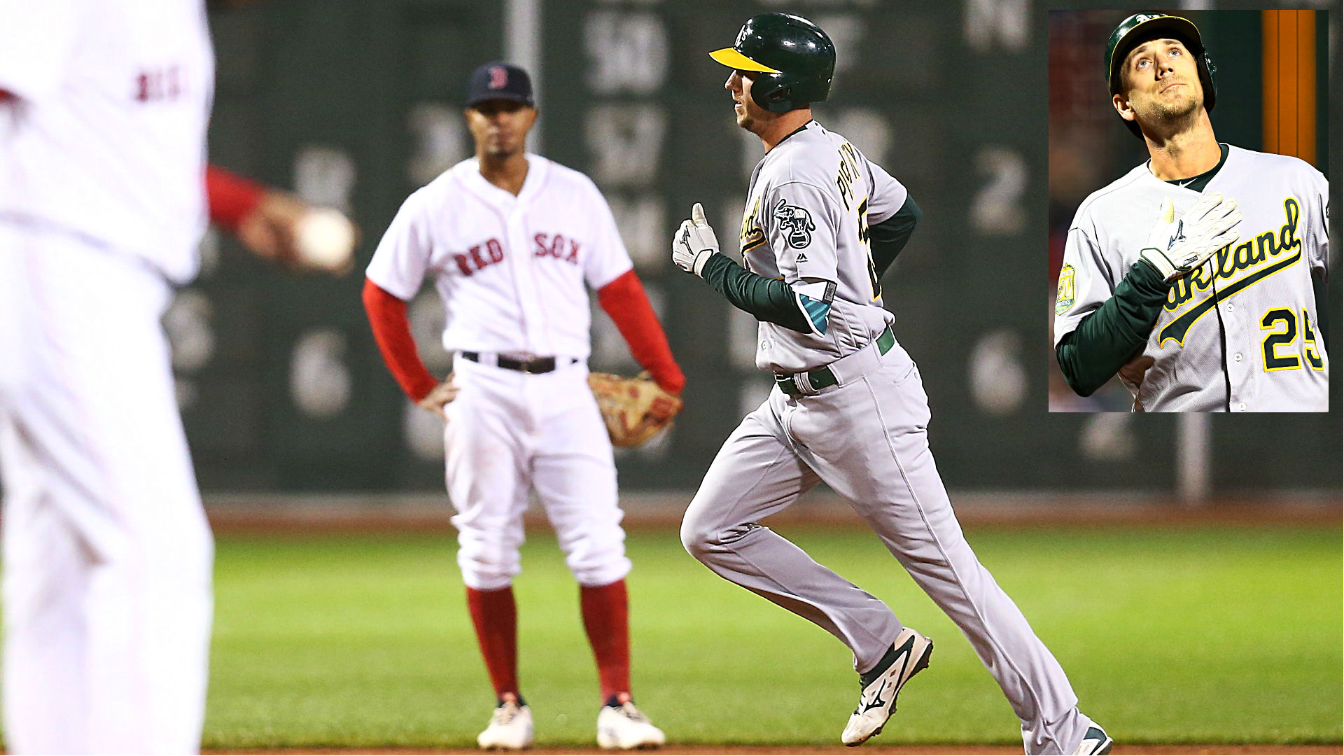 Emotional victory: Stephen Piscotty homers in A's win at Boston