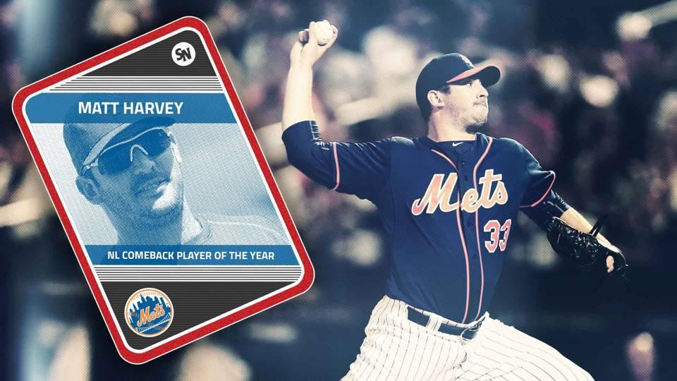 Sporting News MLB awards: Matt Harvey voted NL Comeback ...