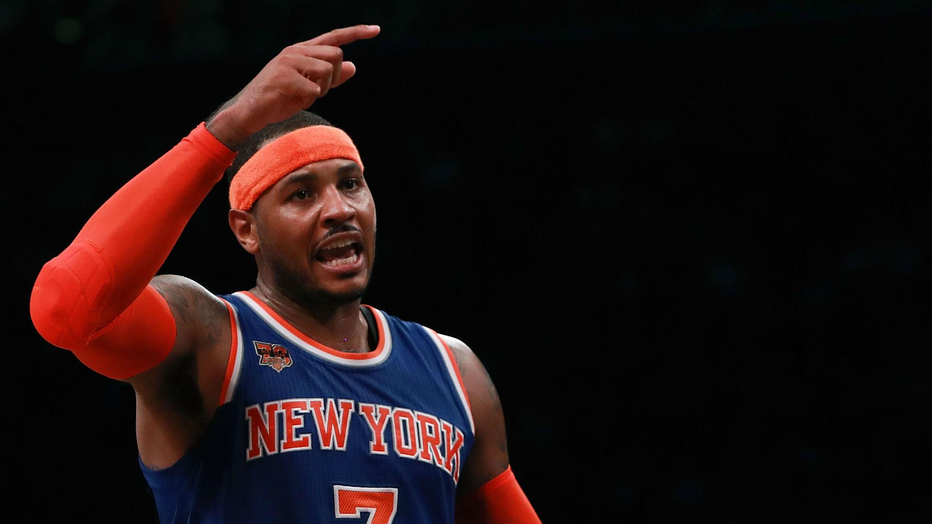 Knicks' Carmelo Anthony Ejected For Hitting Thabo Sefolosha In Throat