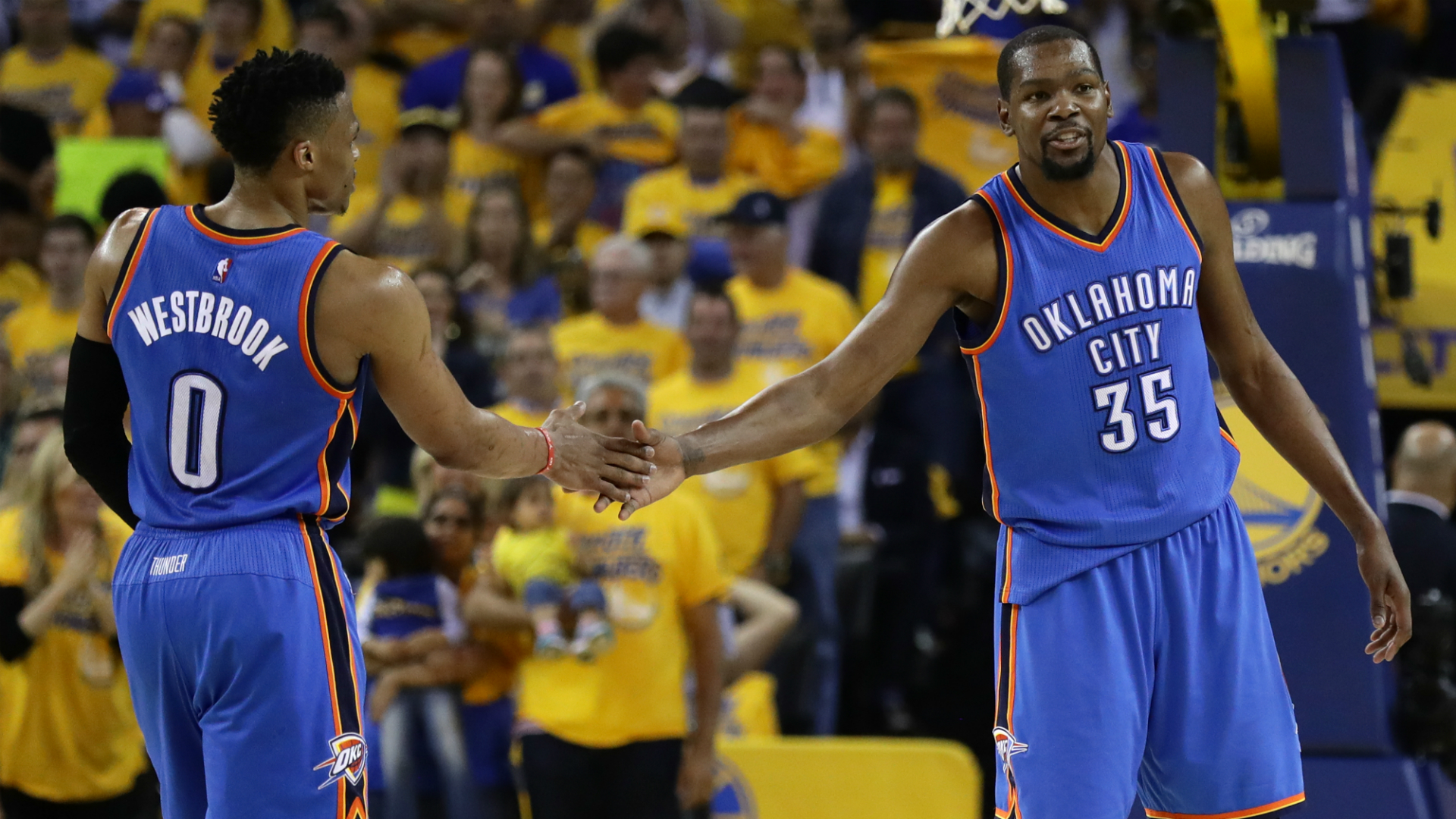 Russell Westbrook on reuniting with Kevin Durant at the