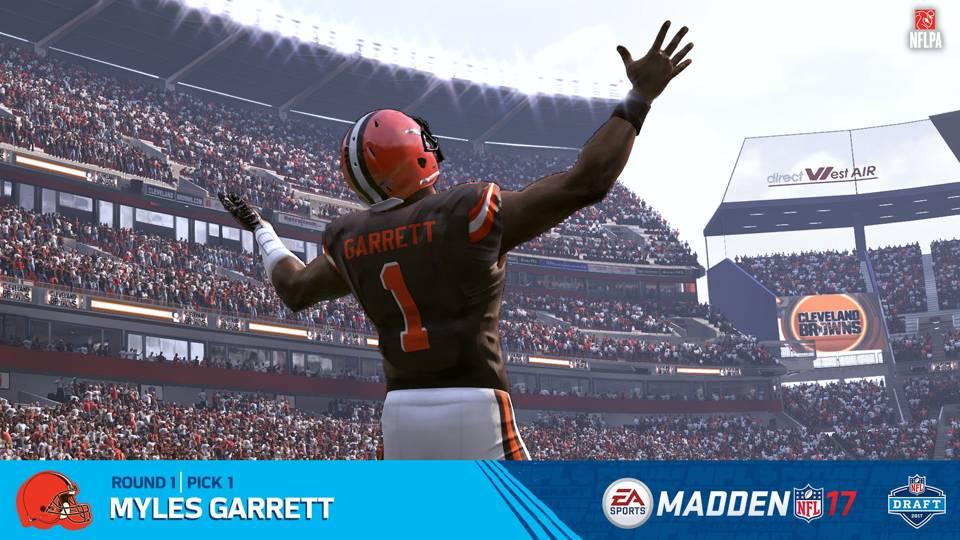 Myles Garrett Cleveland Browns Madden NFL 17
