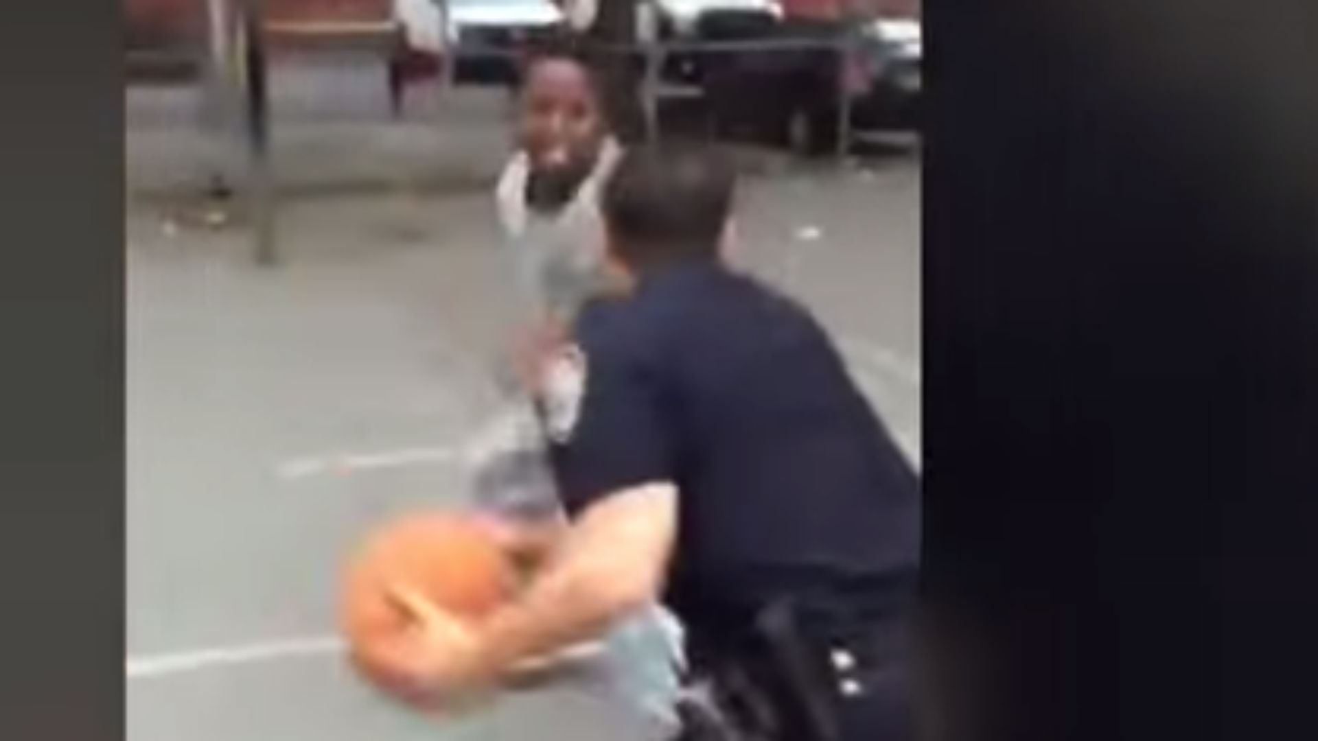 NYPD officers take no mercy against kids on the basketball court