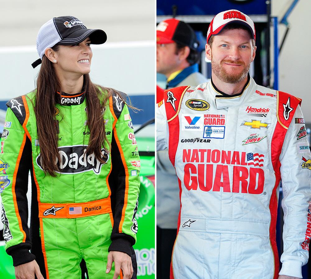 Dale Earnhardt Jr and Danica Patrick-021514-AP-DL.jpg