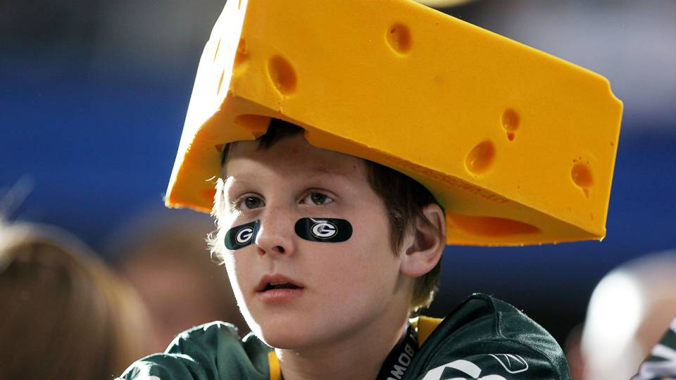 Falcons Fan Happily Knocks Cheesehead Hats Off Packers