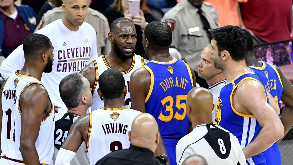 Bad blood boils to surface for Cavs, Warriors in physical Game 4: 'They aren't going to punk us ...