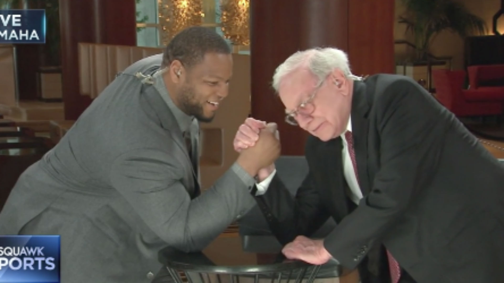 Warren Buffett beat Ndamukong Suh in arm wrestling