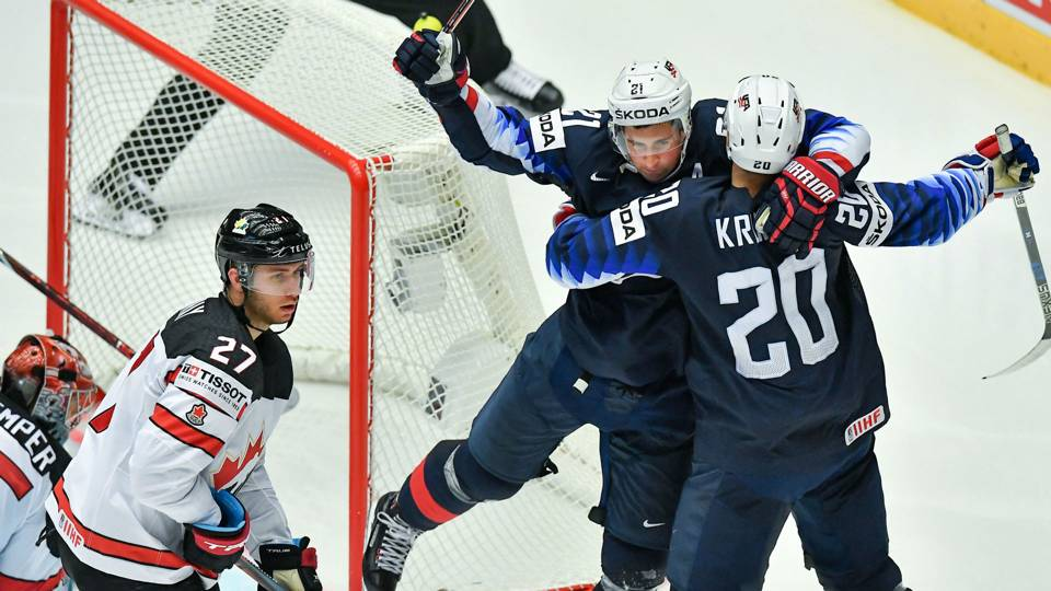 c92ff61b947 USA edges Canada 5-4 in shootout at IIHF World Championship 2018 opener
