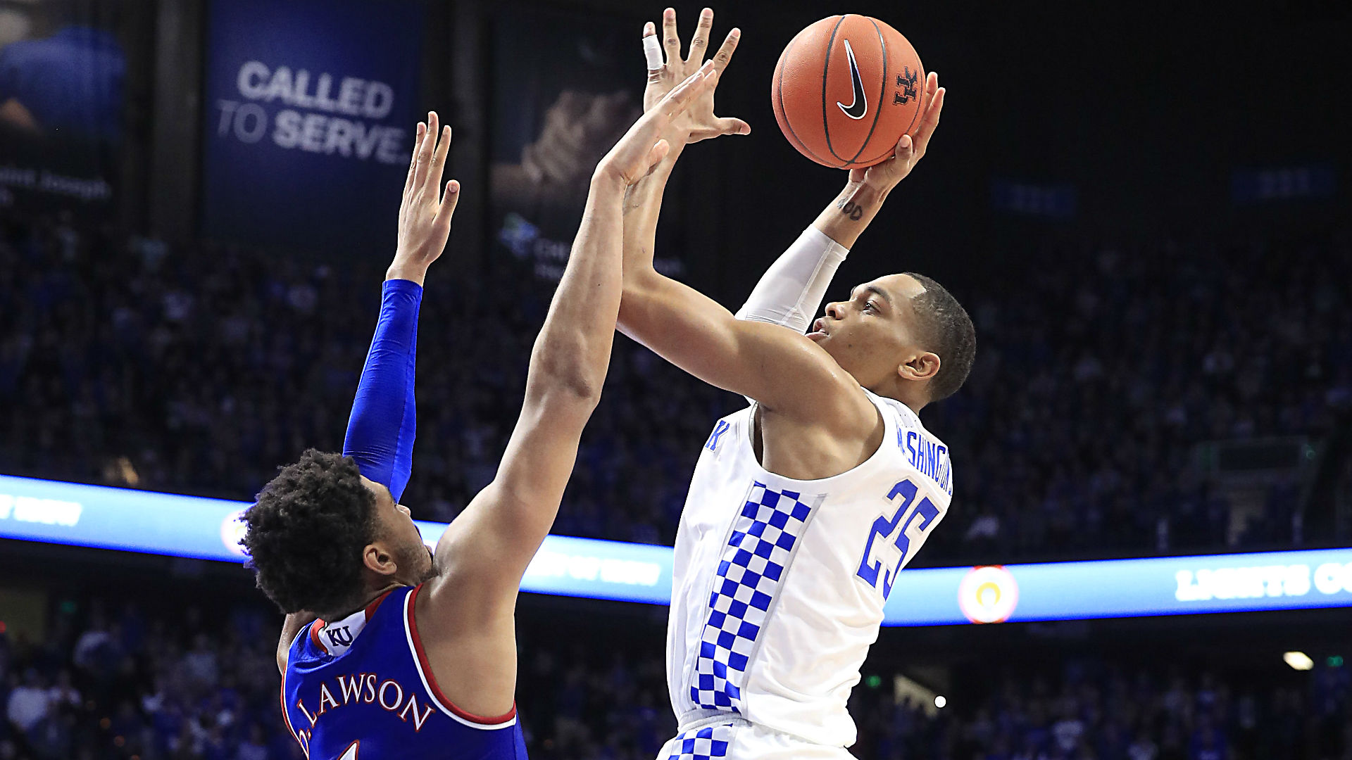 Washington helps Kentucky top Kansas