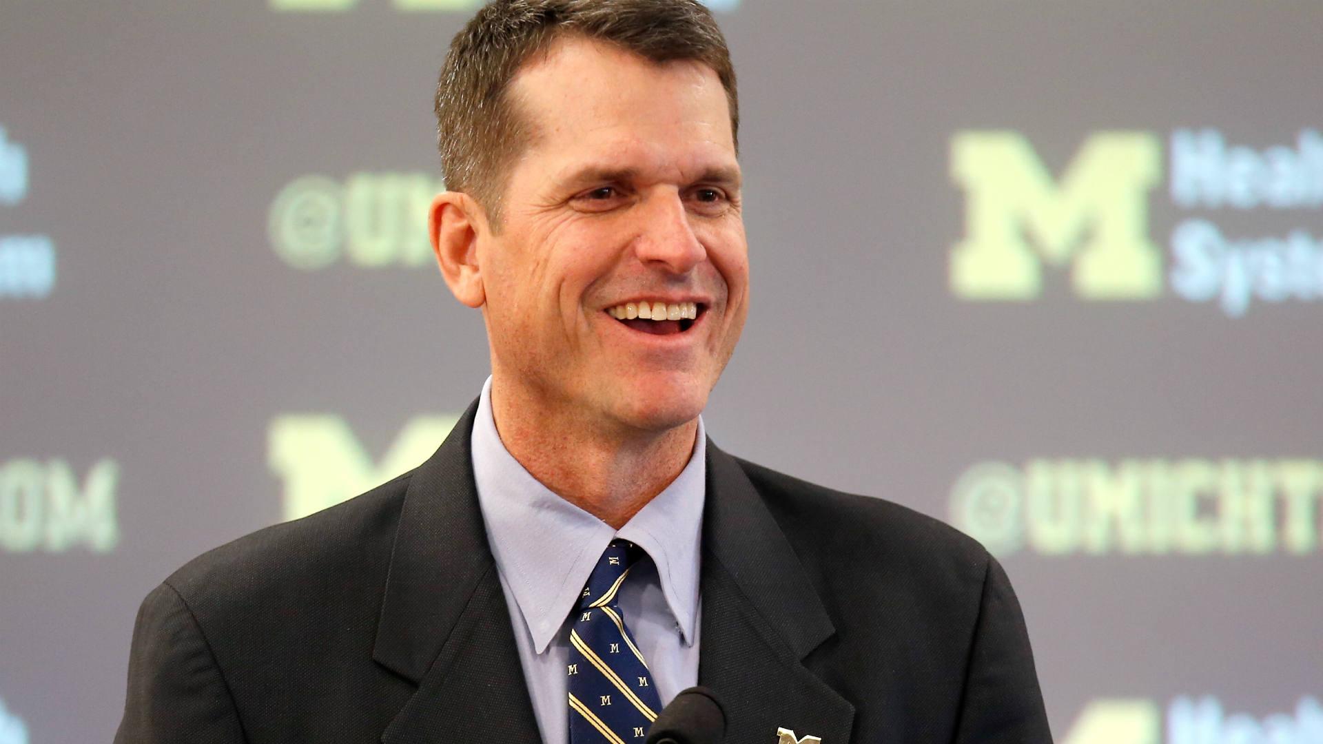 Jim Harbaugh at University of Michigan
