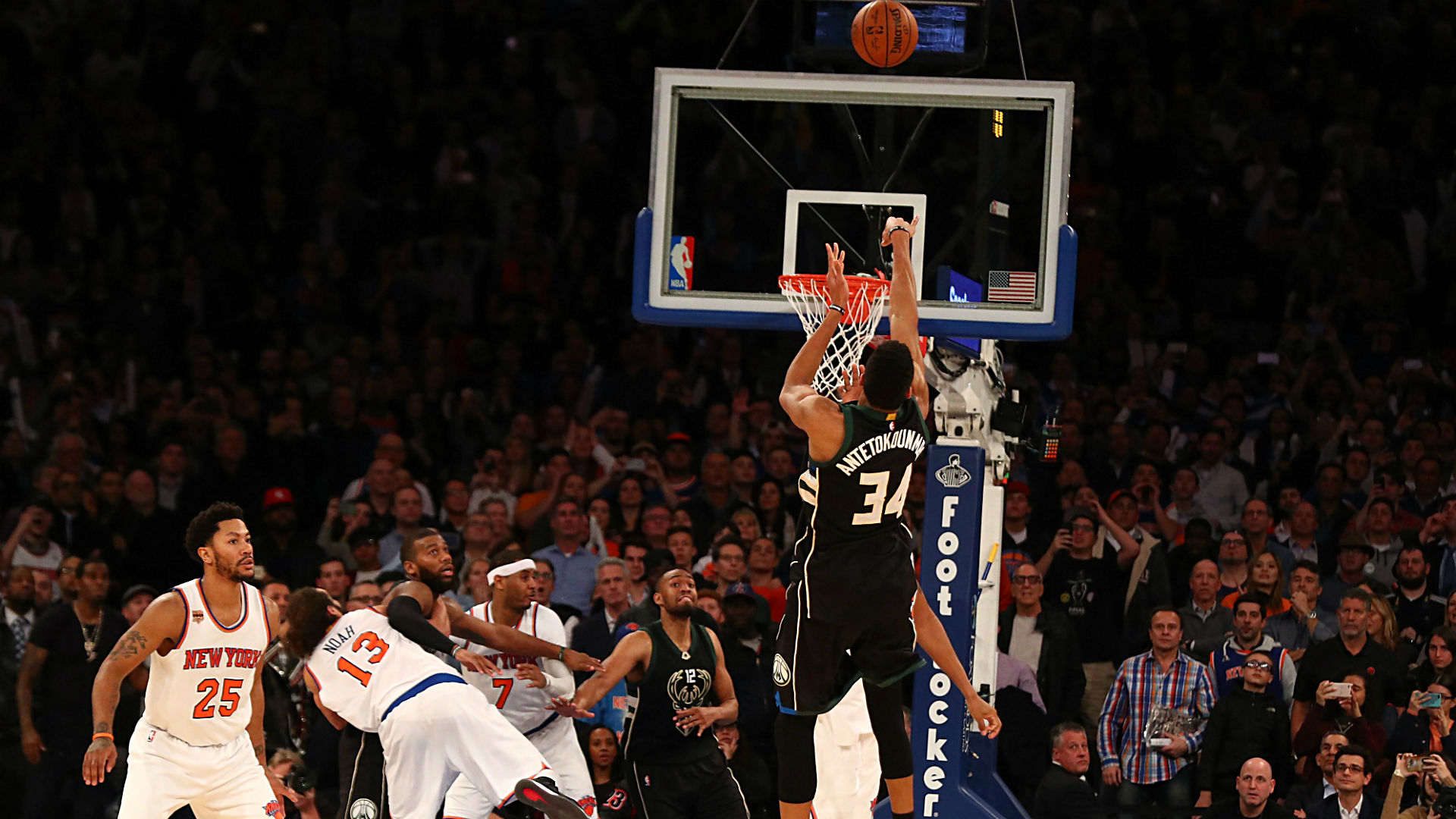 Giannis Antetokounmpo Drains Game Winner At Buzzer Breaks Carmelo Anthonys Heart