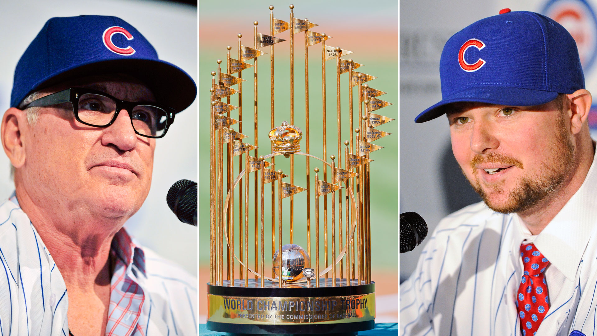Joe Maddon-World Series trophy-Jon Lester-010815-GETTY-FTR.jpg