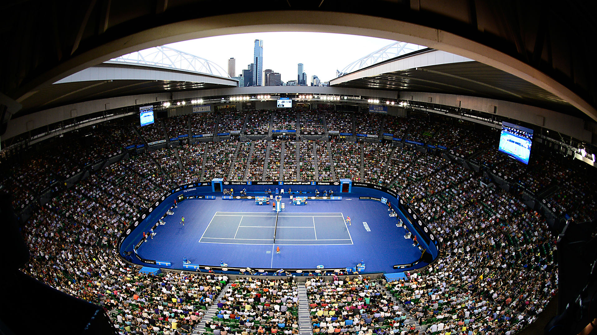 Australian open 2016 dates times tv for first tennis for Door 9 rod laver arena