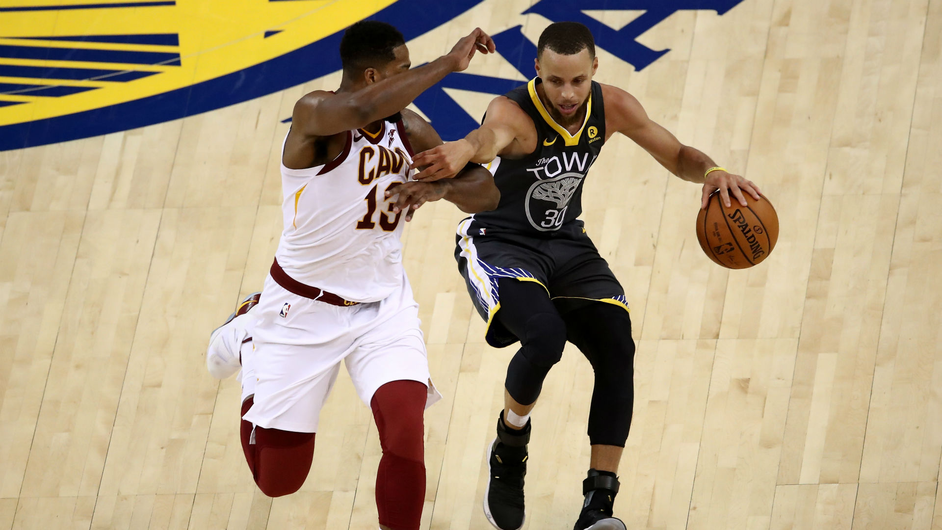 Tristan Thompson really didn't like this question about guarding Stephen Curry