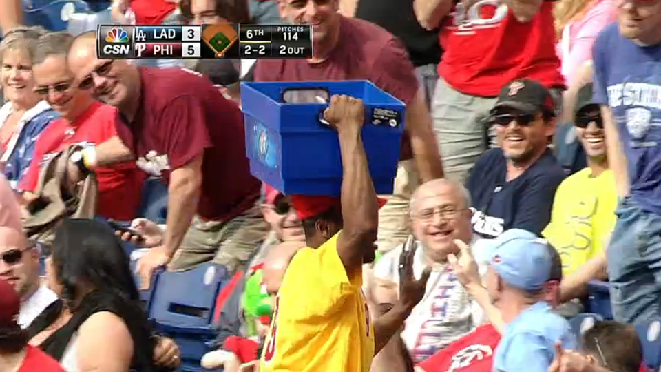 Beer vendor catch