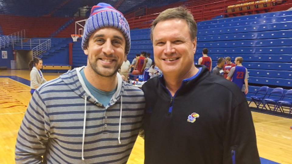 Aaron Rodgers and Bill Self-011714-KANSAS-FTR.jpg