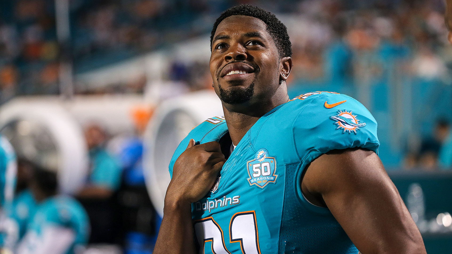 Dolphins lose NFL sack leader Cameron Wake to Achilles injury