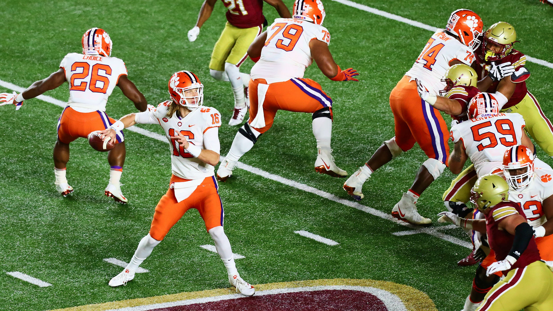 Clemson Vs Boston College Results Tigers Clinch Spot In Acc Title Game With Win Over Eagles