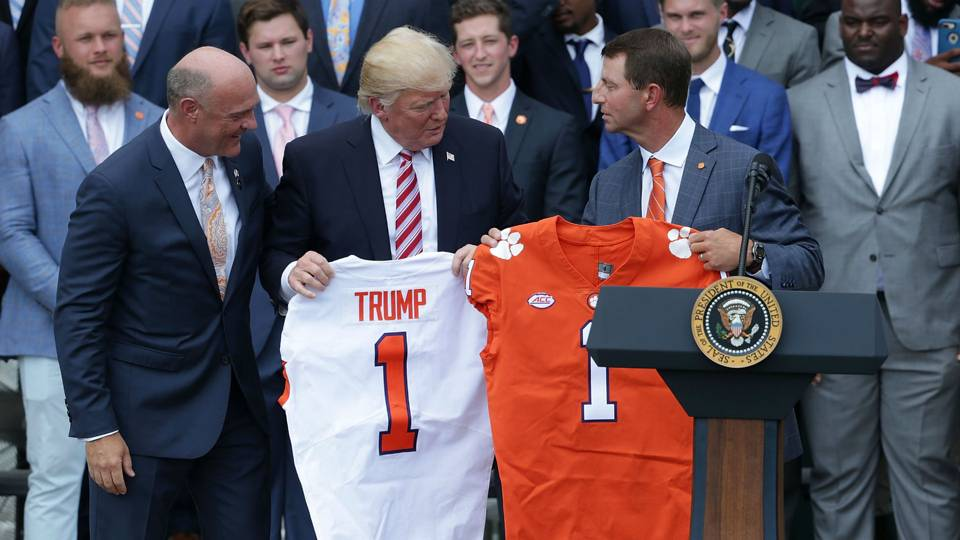 President Trump Welcomes Clemson to White House $3,000 Fast Food Celebration