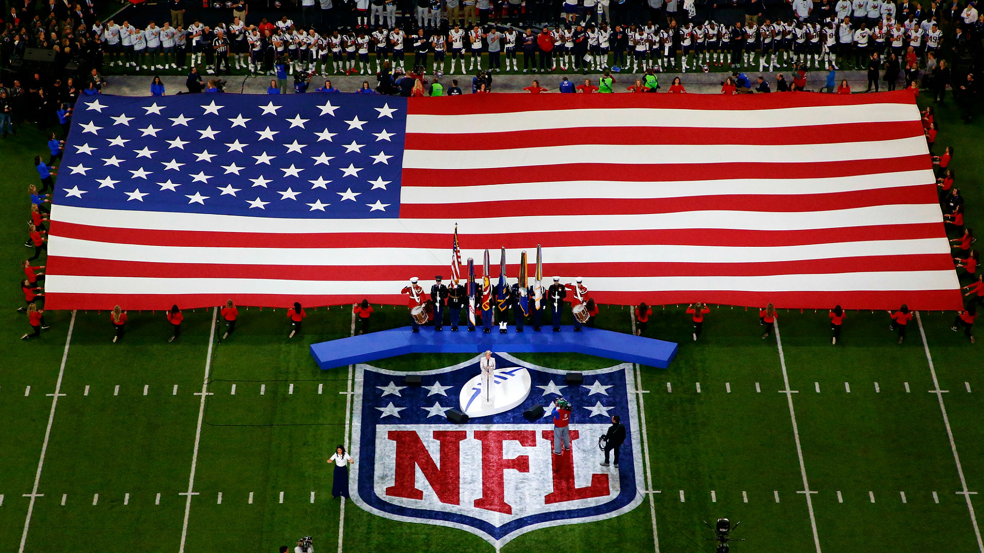 NFL national anthem policy: Players on field must stand, show 'respect'