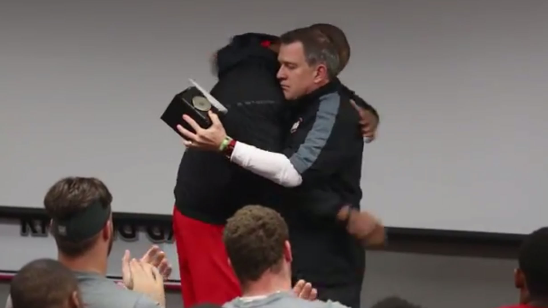 Ohio State's championship ring presentation gets emotional