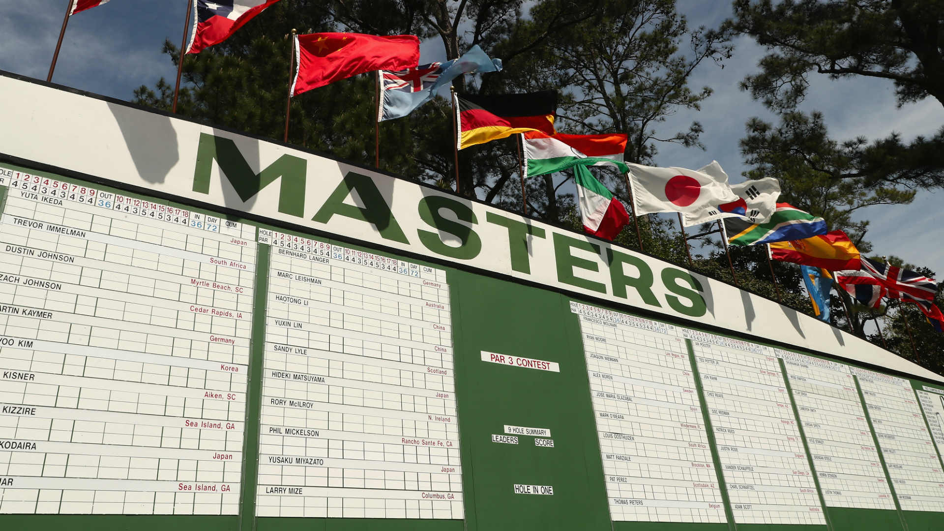 the masters leaderboard 2018  live scores from augusta
