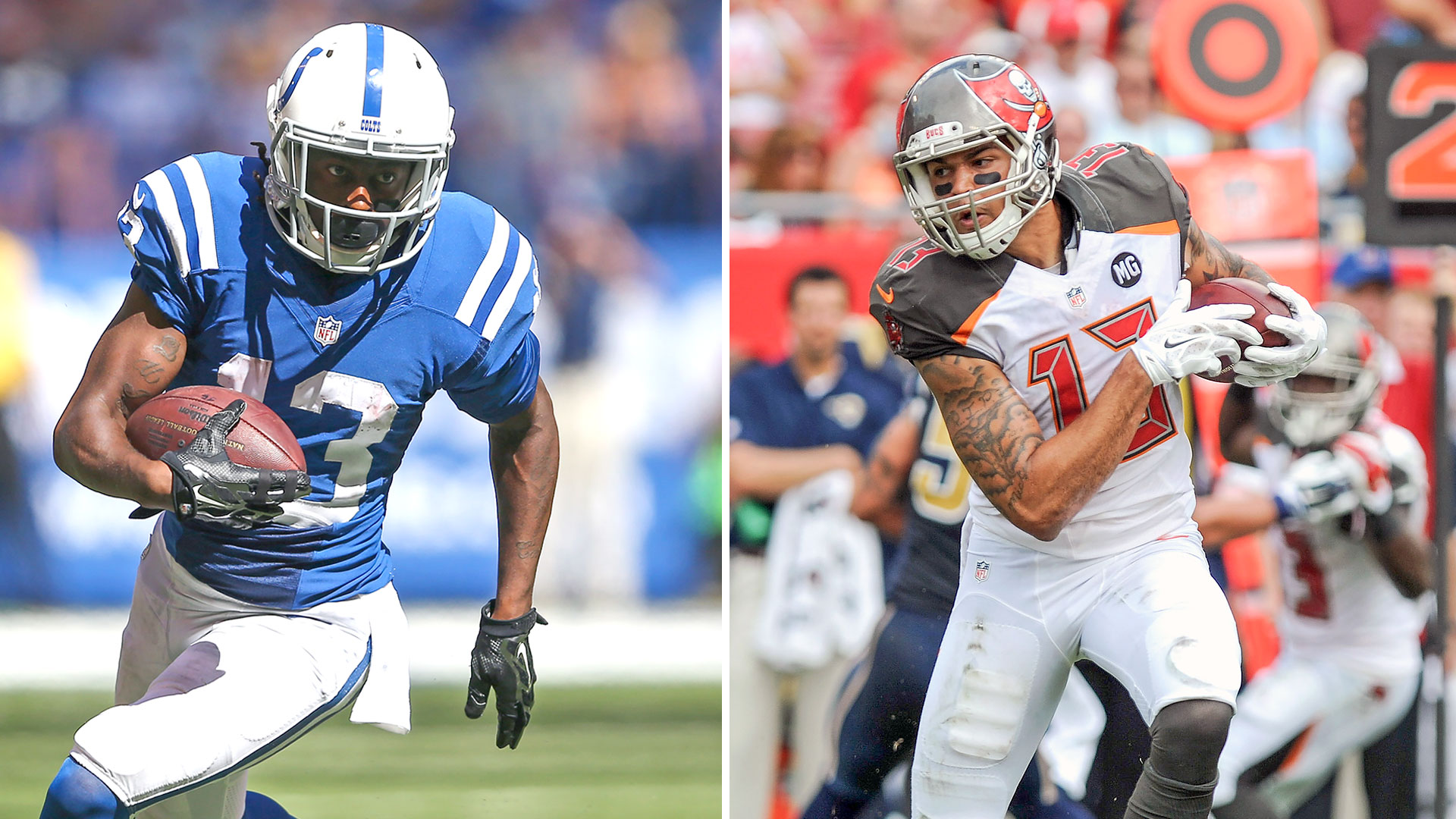 T.Y. Hilton and Mike Evans-081215-GETTY-FTR.jpg