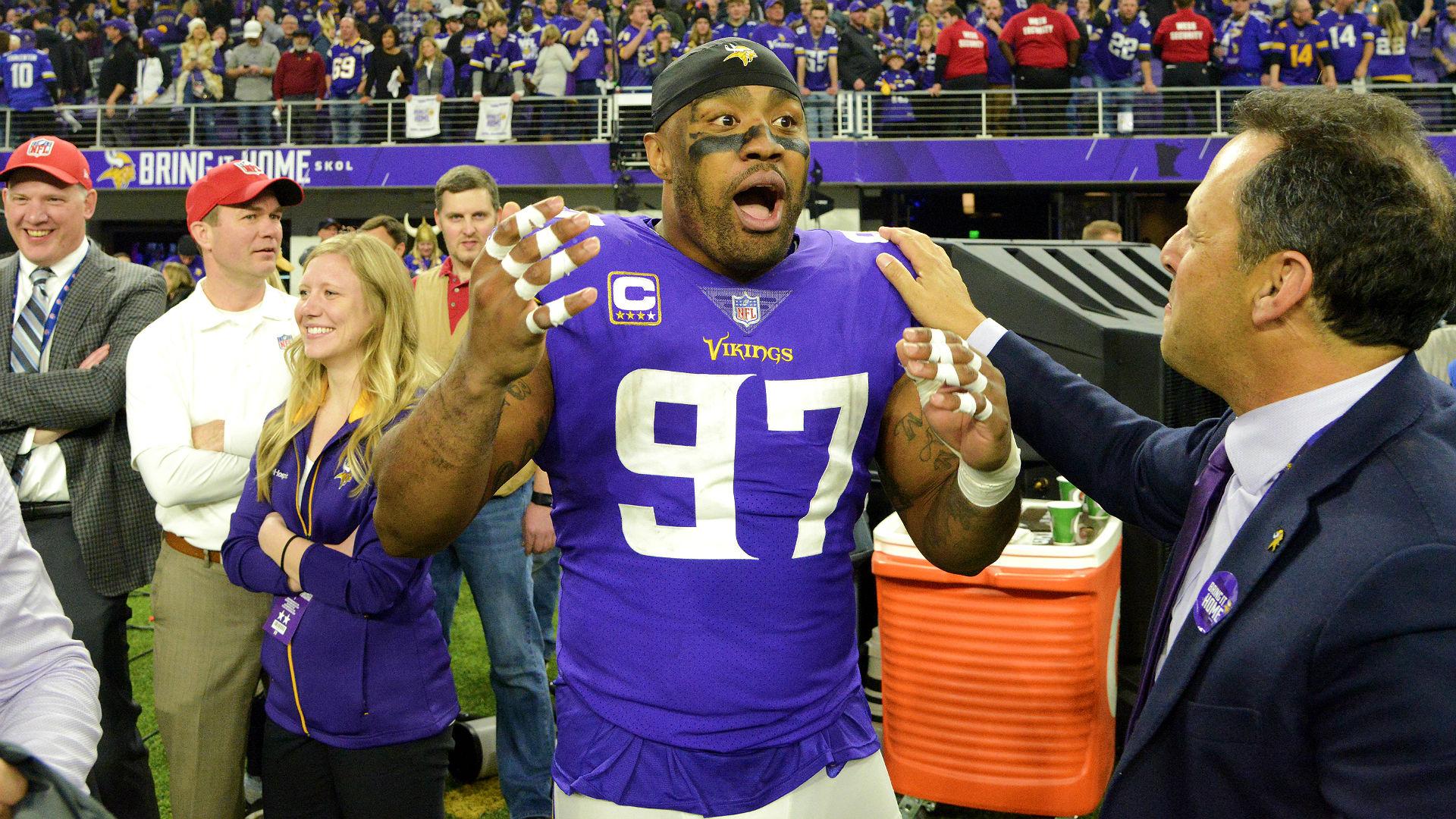 Vikings DE Everson Griffen had priceless reaction to 'Minneapolis Miracle'