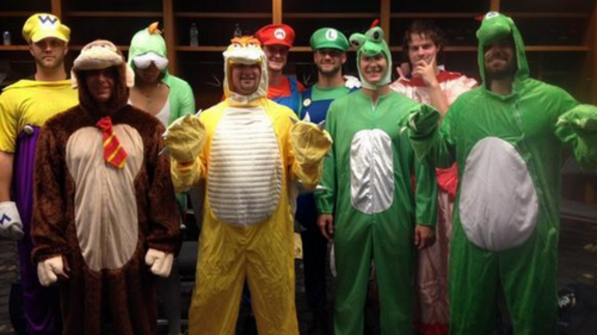 ... t&a-bay-rookies-091214-ftr-twitter.png  sc 1 st  Sporting News & Tampa Bay Rays rookies dress up in Mario Kart costumes | MLB ...