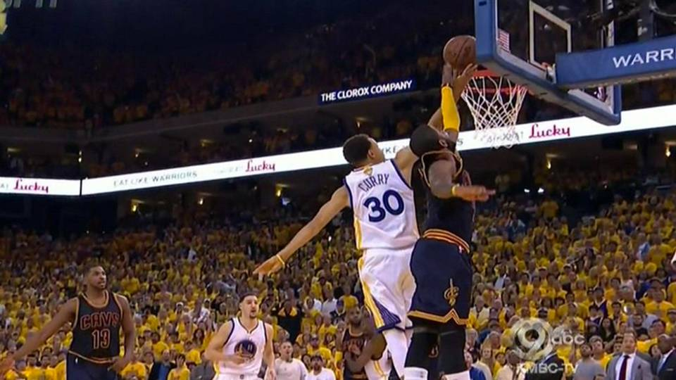 Kyrie Irving's game-saving block on Steph Curry was incredible, his injury was not   NBA ...