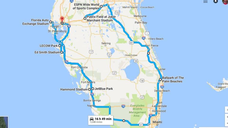 Mlb Spring Training Road Trip Ryan Fagan Hits Up All 15 Florida