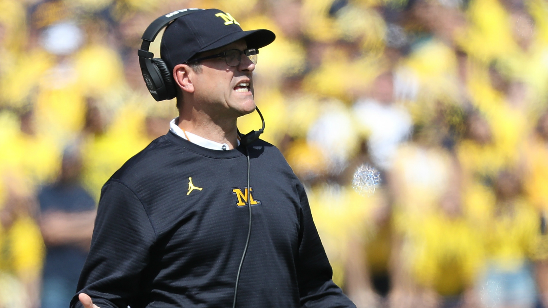 Michigan's Jim Harbaugh calls hit on QB Wilton Speight 'egregious'